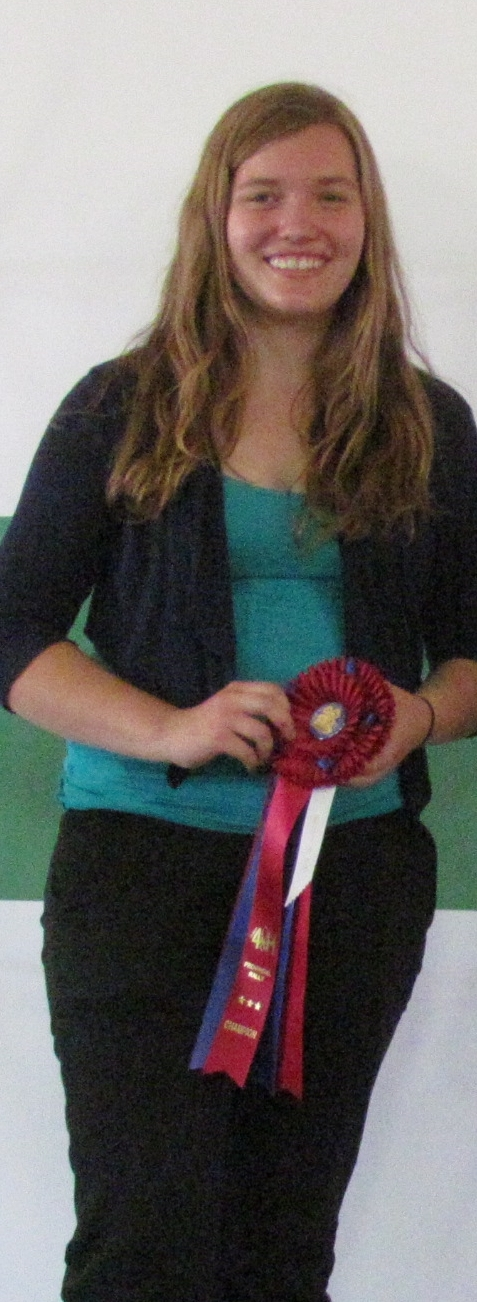 Andrea Soesbergen - Grand Champion Public Speaker at Rally 2012