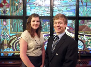 Quebec 4-H Vice-president Tiffany Nelson & President Mathieu Rouleau