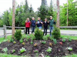 A landscaping job well done at Intermediate Leadership Camp