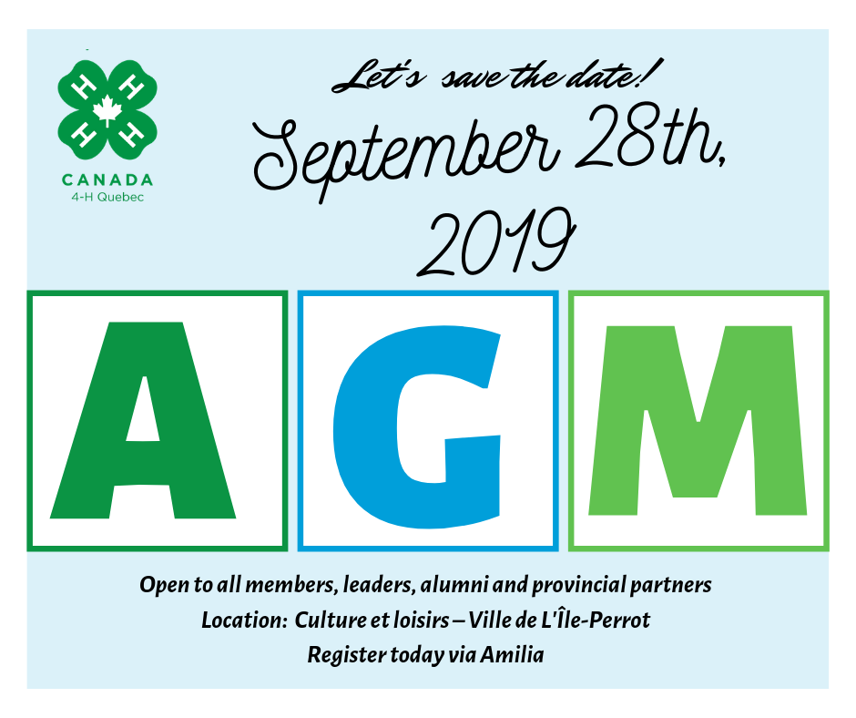 2019 Annual General Meeting - Quebec 4-H
